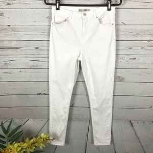 Topshop Moto Jamie White High Rise Ankle Jeans -W1